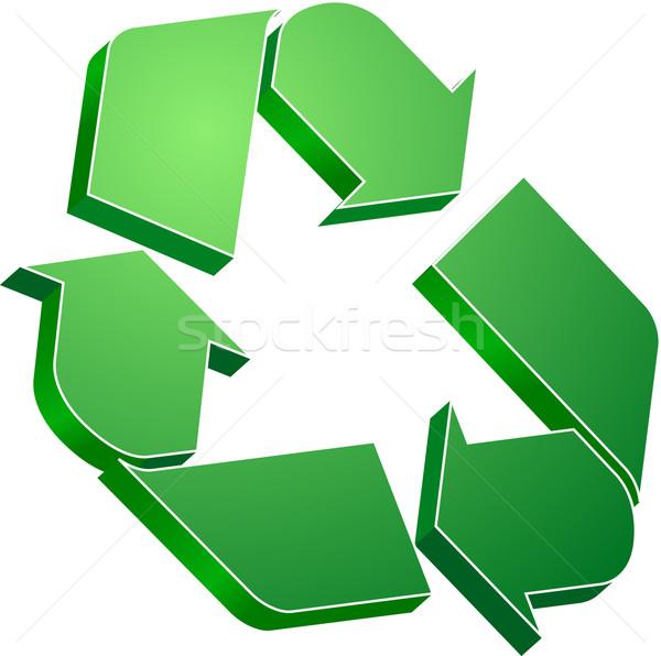 Reciclar verde símbolo natureza vida alto Foto stock © vtorous