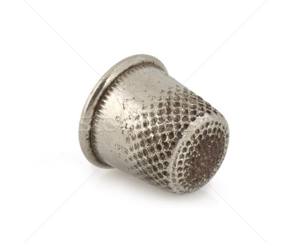 Vingerhoed zilver geïsoleerd witte kunst staal Stockfoto © vtorous