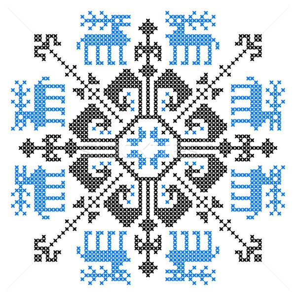 Embroidery ornament Stock photo © vtorous