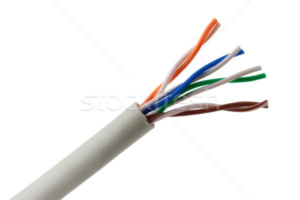 Ethernet kablo telefon sanayi dalga beyaz Stok fotoğraf © vtorous