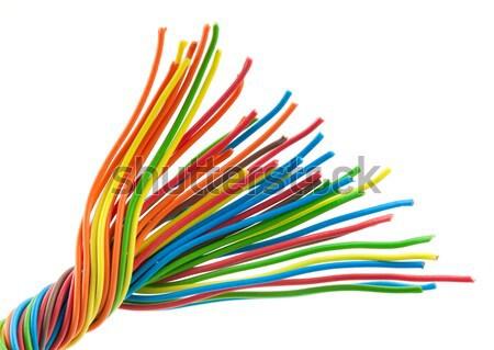Foto d'archivio: Colore · filo · fili · bianco · computer · internet