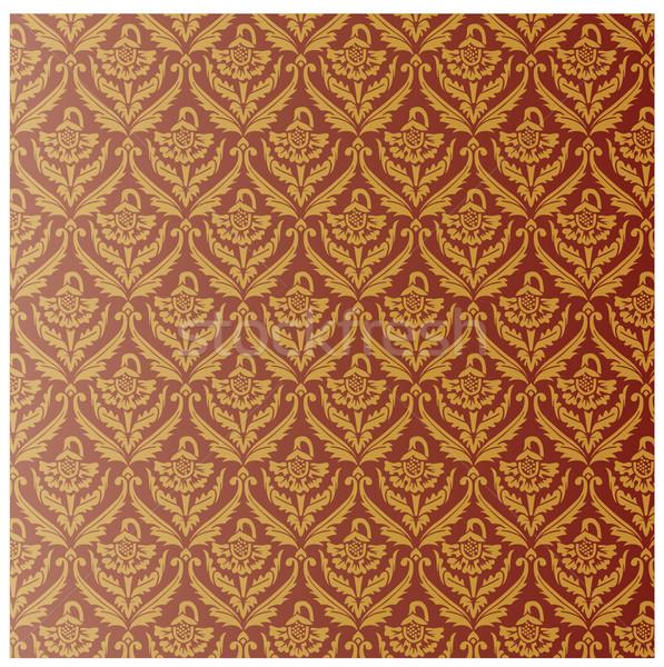 Sem costura papel de parede padrão papel parede fundo Foto stock © vtorous