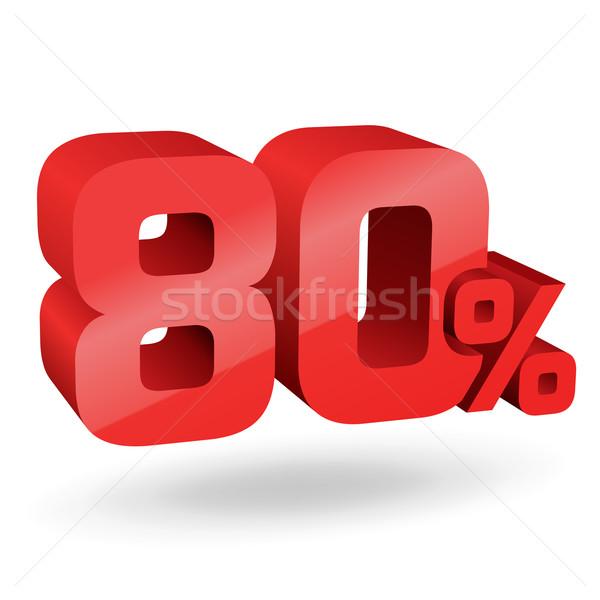 до 80 процент иллюстрация знак красный Сток-фото © vtorous