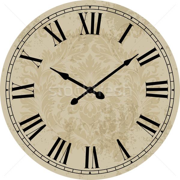 Velho relógio arte assinar tempo retro Foto stock © vtorous