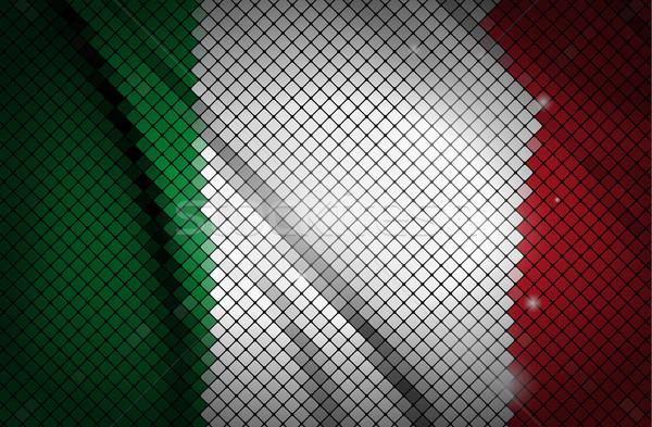 Bayrak Italya Boyama Kırmızı Duvar Kağıdı Beyaz Vektör