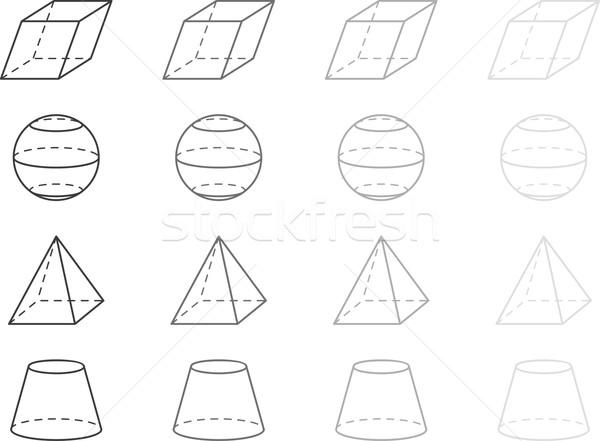 геометрия серый школы фон классе белый Сток-фото © vtorous