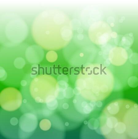 Verde azul borrão bokeh abstrato luz Foto stock © vtorous