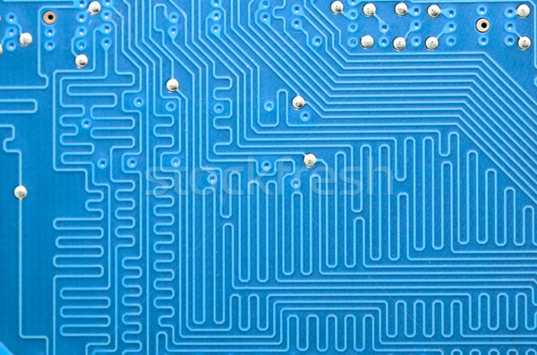 Blue pcb with components Stock photo © vtorous