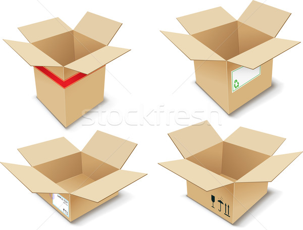 Cardboard Box Stock photo © vtorous