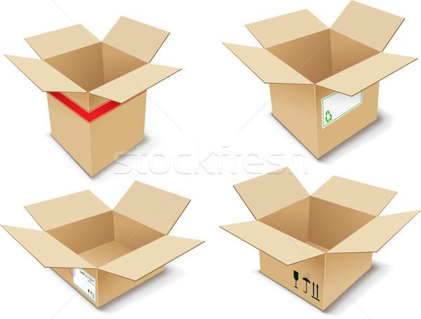 Serviço carimbo fita pacote recipiente Foto stock © vtorous