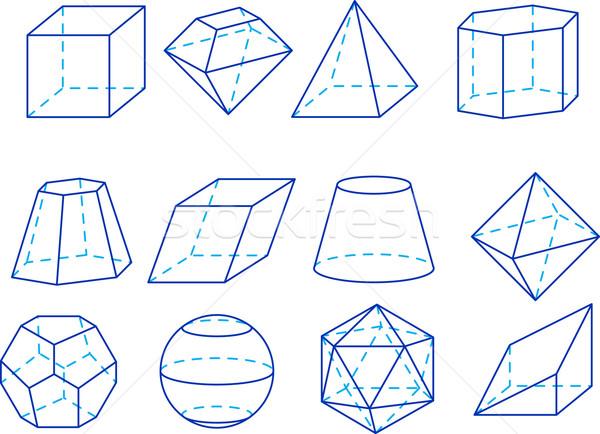 Geometria geométrico escolas fundo sala de aula branco Foto stock © vtorous