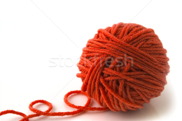 Ball of red threads Stock photo © vtorous