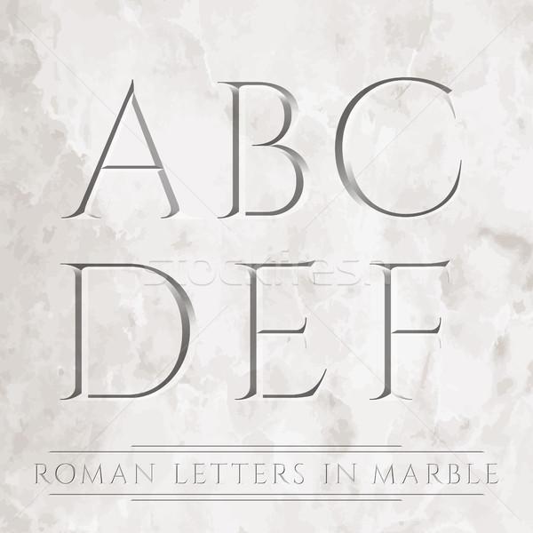 Romeinse brieven oude marmer kan verschillend Stockfoto © vtorous