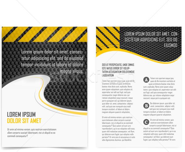 Brochure page Stock photo © vtorous