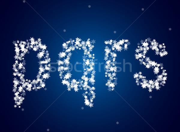 śniegu litery lodu podpisania niebieski list Zdjęcia stock © vtorous