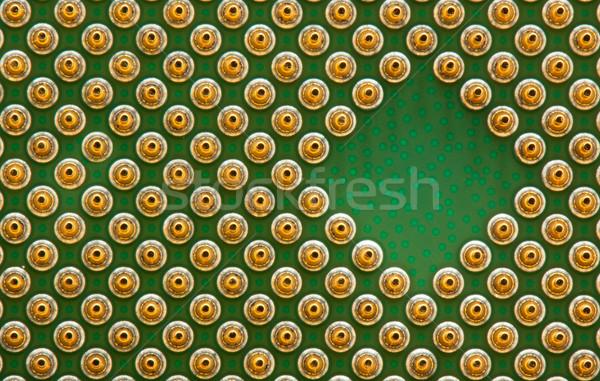 Bewerker gouden groene patroon plan chip Stockfoto © vtorous