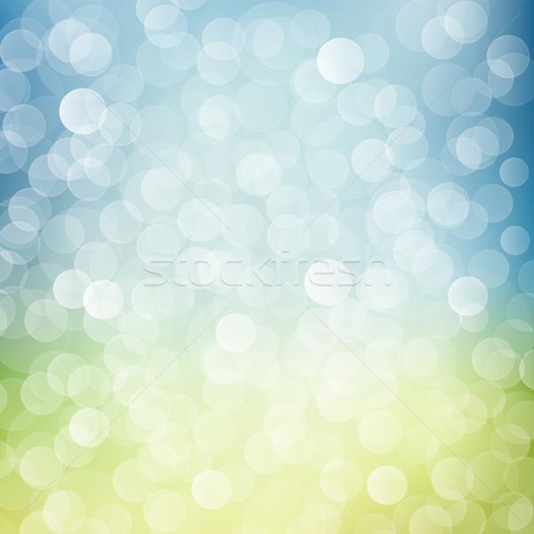 ぼけ味 青 緑 通り デザイン 冬 ストックフォト © vtorous