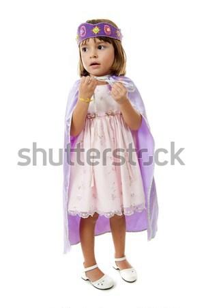 Nino nina púrpura sonrisa feliz Foto stock © vtupinamba