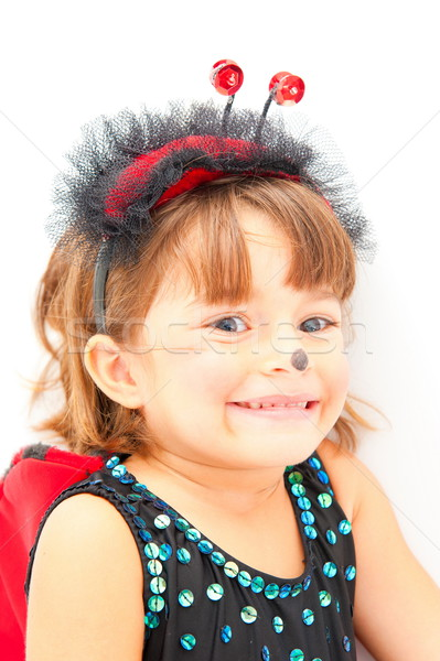 Nino cute mariquita traje fiesta sonrisa Foto stock © vtupinamba