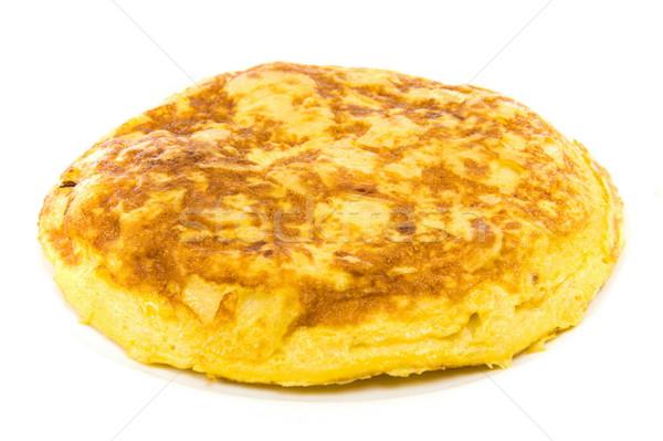 Tortilla spanyol nemzetközi konyha fotó tojás Stock fotó © vtupinamba