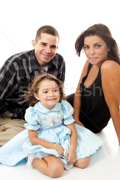 Familia hermosa blanco mujer nina Foto stock © vtupinamba