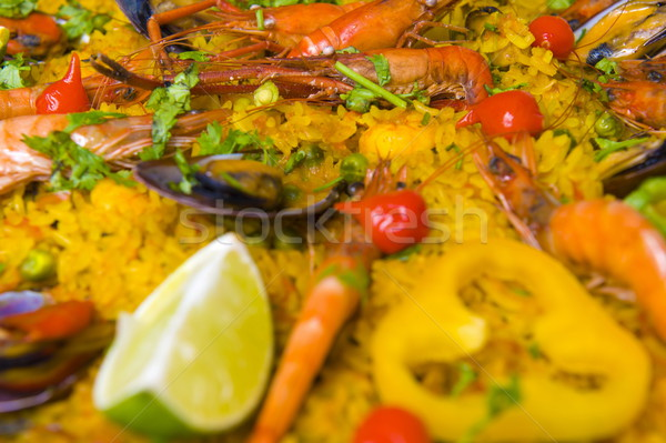 Panela espanhol mar comida fruto cozinhar Foto stock © vtupinamba