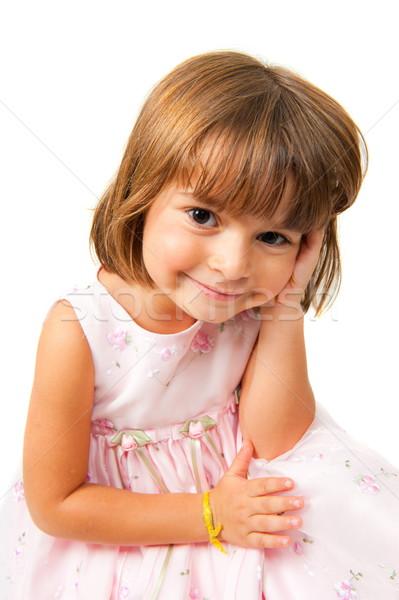 Cute nino retrato hermosa sonrisa moda Foto stock © vtupinamba