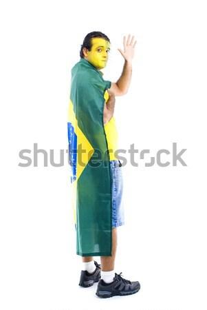 Doei volwassen vlag voetbal gelukkig Stockfoto © vtupinamba