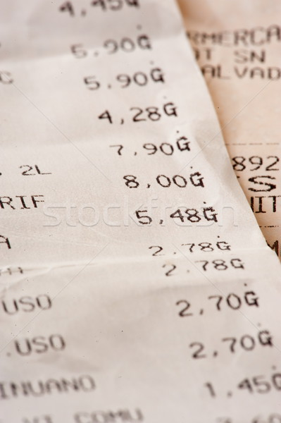 Fiscale nummers papier kaart Bill wedstrijd Stockfoto © vtupinamba