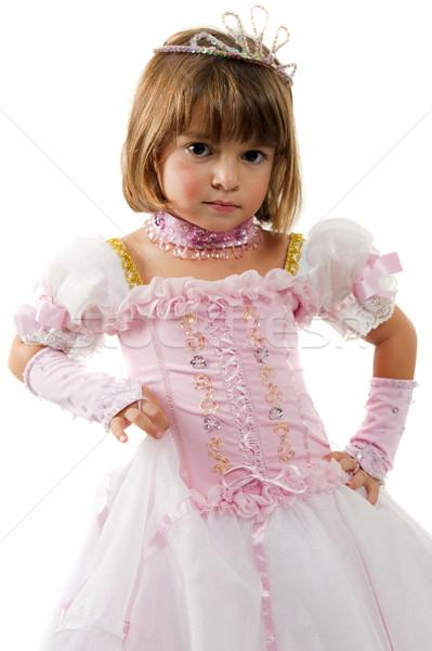 Princesa hermosa nino rosa ropa triste Foto stock © vtupinamba