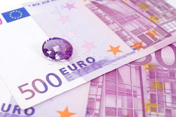 Euro ametista 500 euros moeda Foto stock © vtupinamba