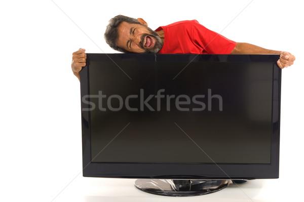 Consumatore fine utente felice nuovo schermo Foto d'archivio © vtupinamba