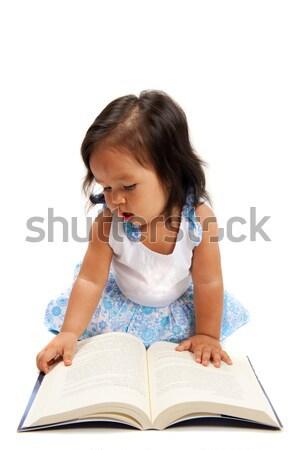 Lectura cute Asia nino nina Foto stock © vtupinamba