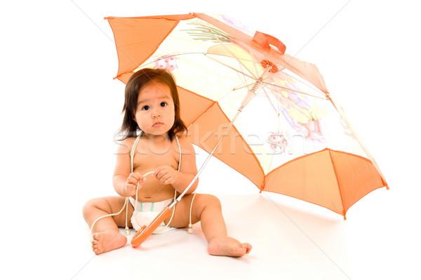 Baby with Umbrella Stock photo © vtupinamba