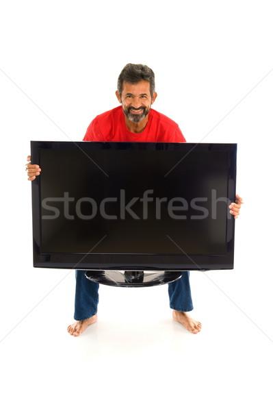 Man and TV Stock photo © vtupinamba