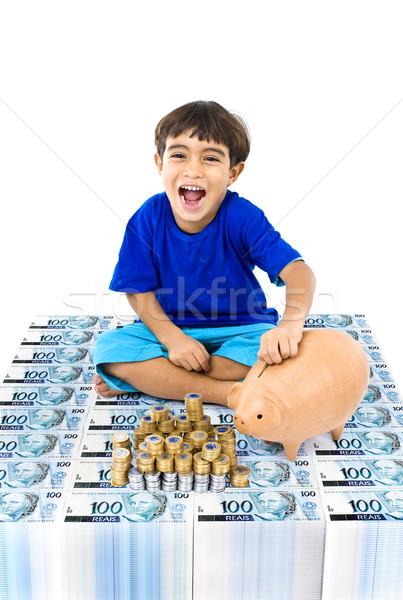 Ahorros real moneda dinero resumen Foto stock © vtupinamba