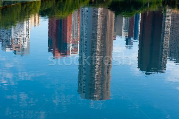 Reflexión edificios agua espejo basílica edificio Foto stock © vtupinamba