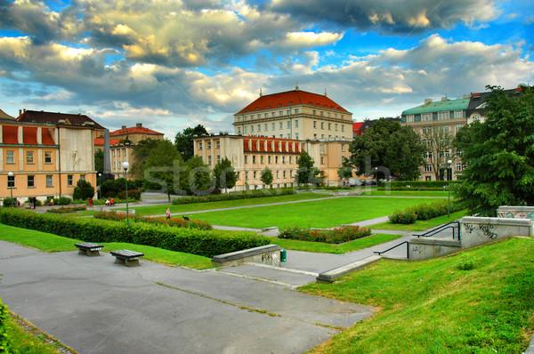 Stok fotoğraf: Prag · kırmızı · çatılar · Çek · Cumhuriyeti · yaz · mimari
