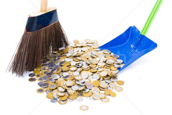 Limpio dinero monedas piso banco efectivo Foto stock © vtupinamba