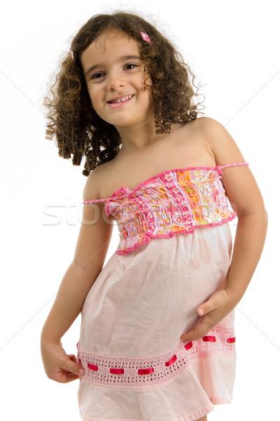 Cute modelo retrato hermosa nino sonriendo Foto stock © vtupinamba