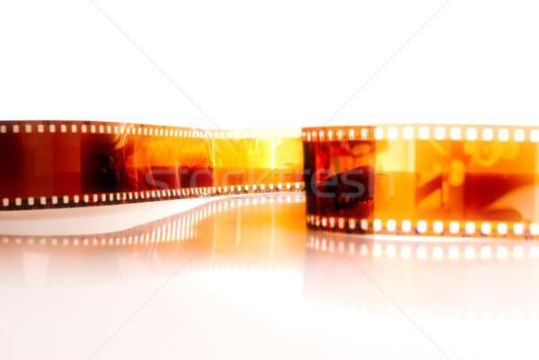 Filmstrip witte film achtergrond frame retro Stockfoto © vtupinamba
