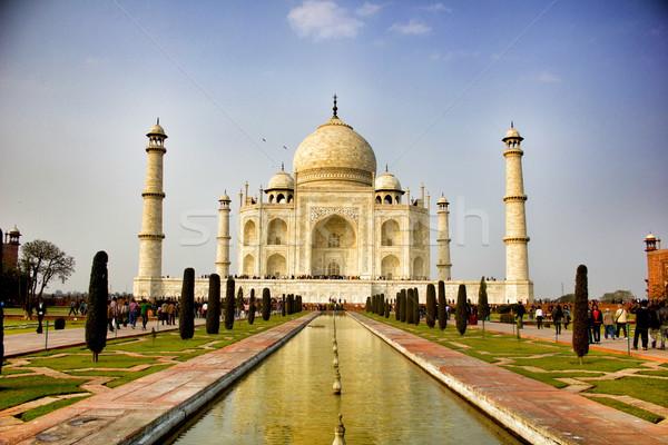 Taj Mahal Inde amour paysage Voyage Asie Photo stock © vtupinamba