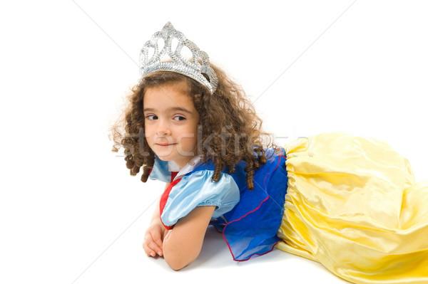Nino traje hermosa cute princesa feliz Foto stock © vtupinamba