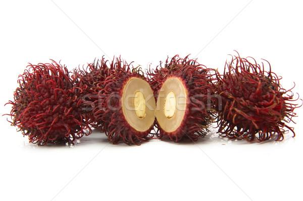 Exótico frutas blanco rojo semillas Foto stock © vtupinamba