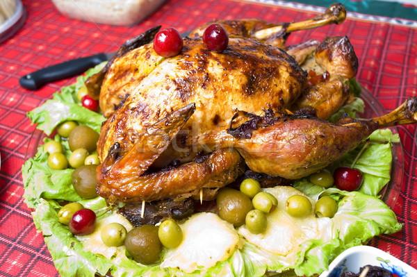 Turquía mesa vacaciones cena carne ensalada Foto stock © vtupinamba
