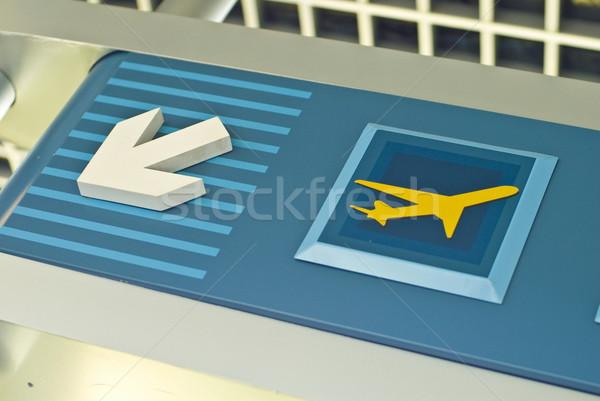 Stock fotó: Repülőtér · felirat · mutat · érkezés · indulás · feliratok