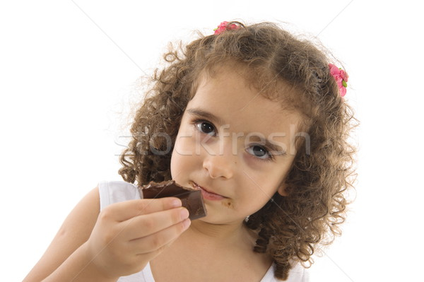 Comer chocolate retrato cute nino feliz Foto stock © vtupinamba