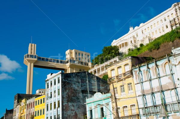 Ascensor centro de la ciudad cielo ciudad verano viaje Foto stock © vtupinamba