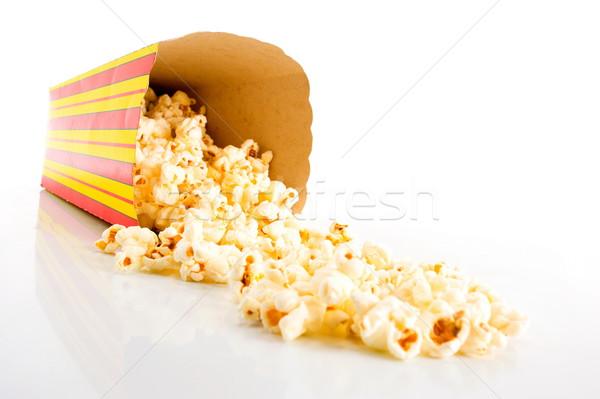 Popcorn polu przekąska żywności kukurydza biały Zdjęcia stock © vtupinamba