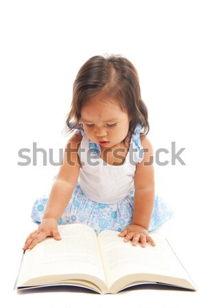 Maternelle lecture cute asian enfant fille Photo stock © vtupinamba